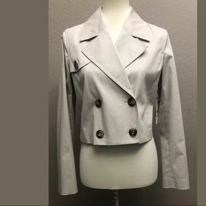 Laundry By Shelli Segal Cropped Trench Coat
